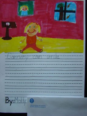 """A page from the Cammy Can book says """"Cammy can smile."""" / Rett Syndrome News"""