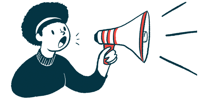 TSHA-102   Rett Syndrome News   gene therapy   illustration of woman with megaphone